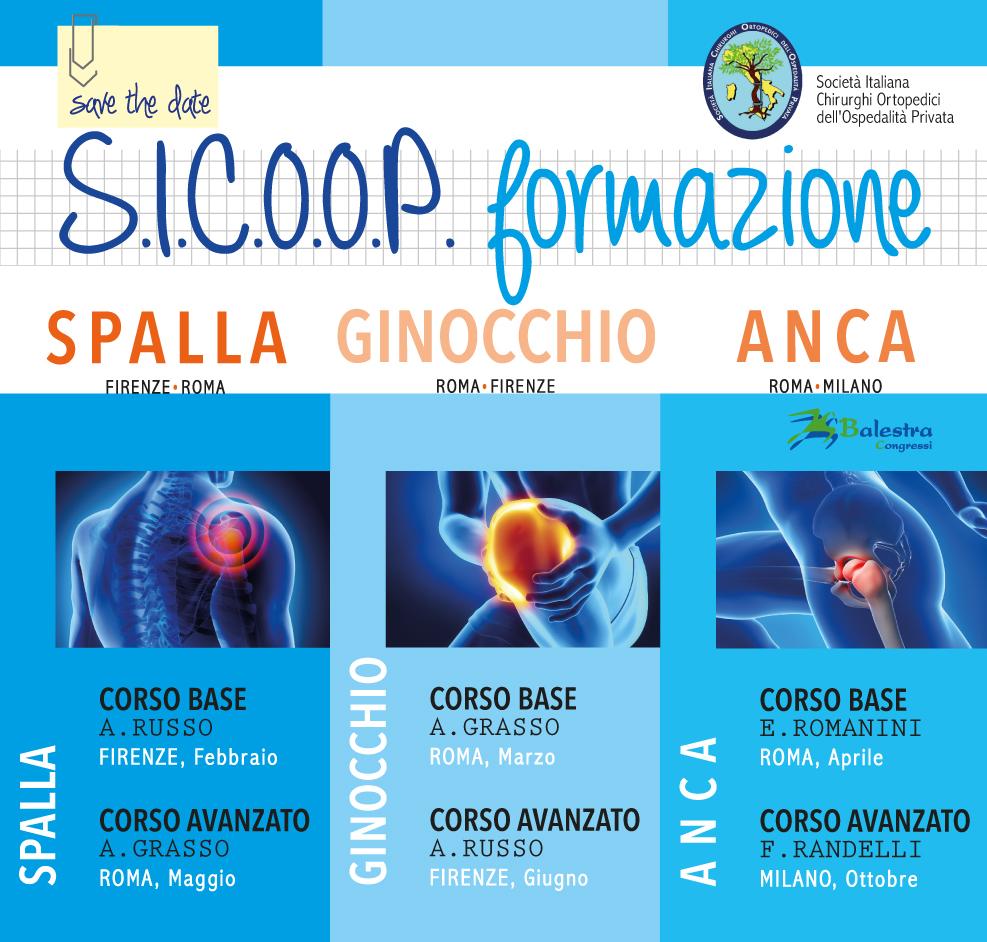 SICOOP formazione – Spalla, Ginocchio, Anca